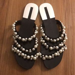 Pearl Slip On Sandals